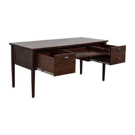 crate and barrel office desk 70 off crate barrel crate barrel hardwood desk