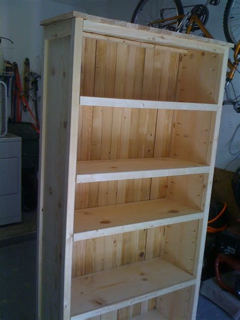 rustic bookcase based on plans from white kreg
