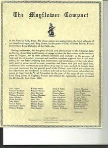 Mayflower Compact Essay by Lad 1 Mayflower Compact Fundamental Orders Of Connecticut Derek S Ap American