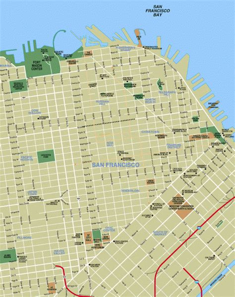 san francisco map points of interest downtown san francisco tourist map san francisco