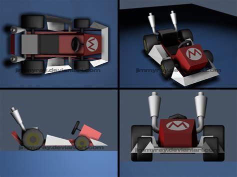 Mario Kart Papercraft - mario s kart by jimmyray on deviantart