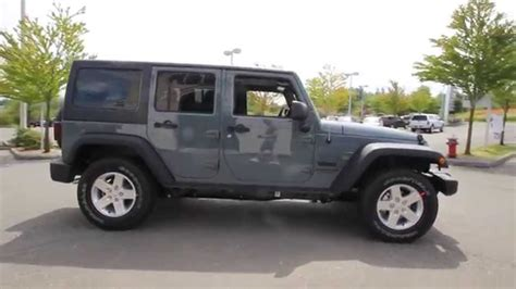 jeep gray wrangler 2014 jeep wrangler unlimited sport anvil gray el319959