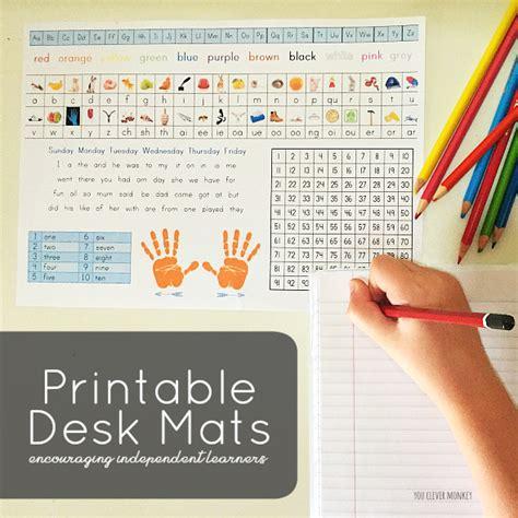 printable alphabet for desk printable desk mats you clever monkey
