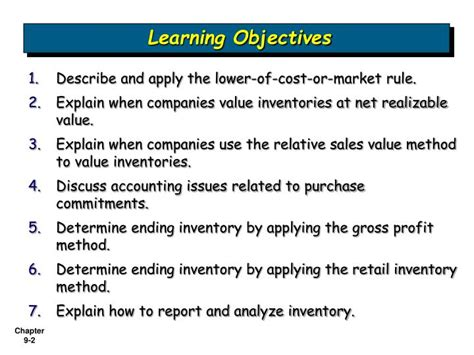 Chapter 9 Inventories Additional Valuation Issues Outline by Ppt Inventories Additional Valuation Issues Powerpoint Presentation Id 1222460