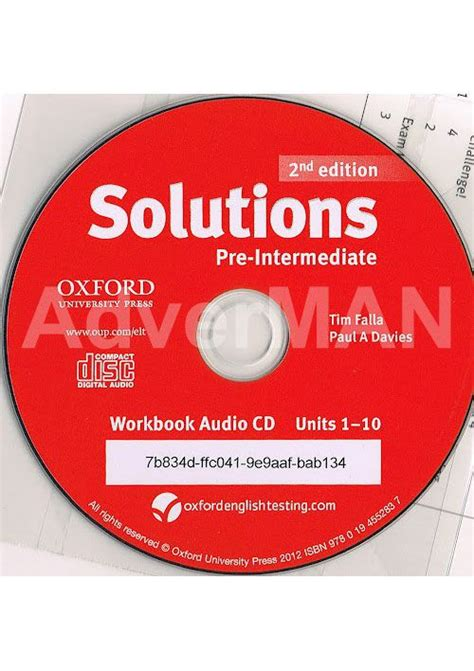 solutions pre intermediate workbook cd solutions 2nd edition workbook with cd rom ukrainian edition уровень pre intermediate купить