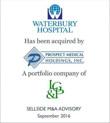 Waterbury Hospital Detox by Waterbury Hospital Has Been Acquired By Prospect