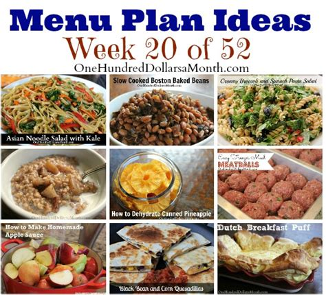 a bunch for lunch meals for 20 or more in the corporate kitchen volume 1 books weekly meal plan menu plan ideas week 20 of 52 one
