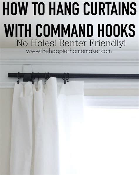 no nail curtain rod command hooks hang curtains and hooks on pinterest