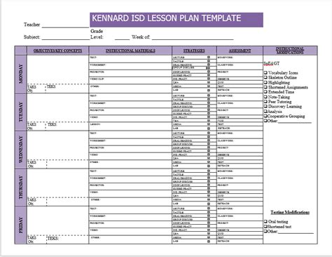 Weekly Lesson Plan Templates 2 Free Templates Word Templates Weekly Lesson Planner Template