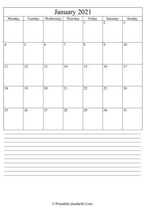 printable calendar january   holidays