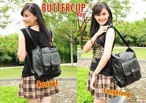 Tas Putih Tali White Jinjing Kantor Cantik Wanita Tangan Korea Formal tas ransel buttercup model multifungsi untuk sekolah