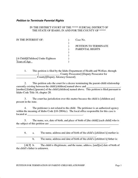 2 petition to terminate parental rights form pay stub