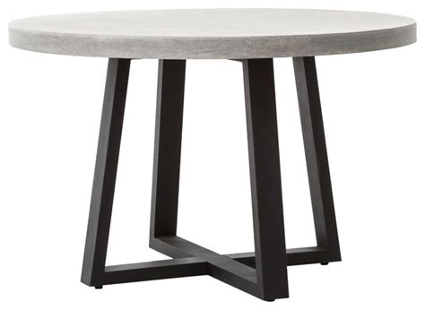 modern concrete dining table maceo modern classic concrete metal dining table