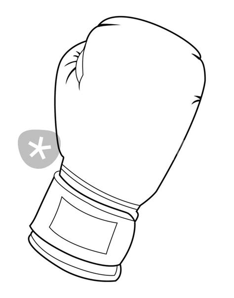 Drawing Glove by Free Boxing Glove Coloring Pages