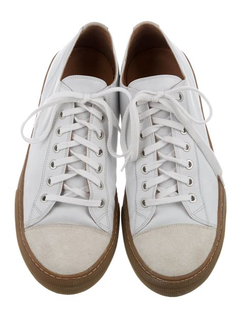 dries noten leather low top sneakers shoes dri35443 the realreal