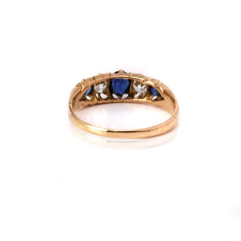 antique sapphire and engagement ring in 18ct gold