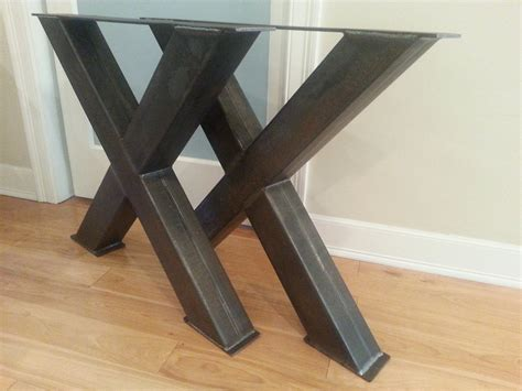 metal table legs metal table legs 4 steel table legs oversize x metal