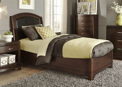 Truffle Bed by Liberty Avalon Truffle Leather Bed Avalon