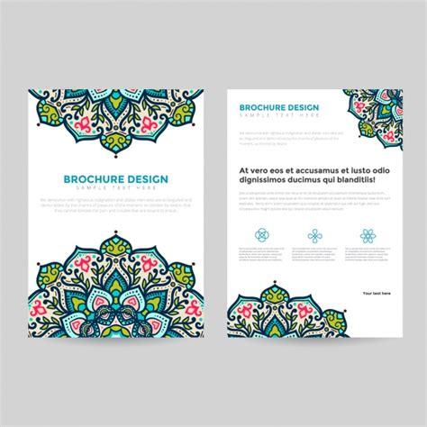 nature brochure template vector premium download mandala brochure template vector premium download