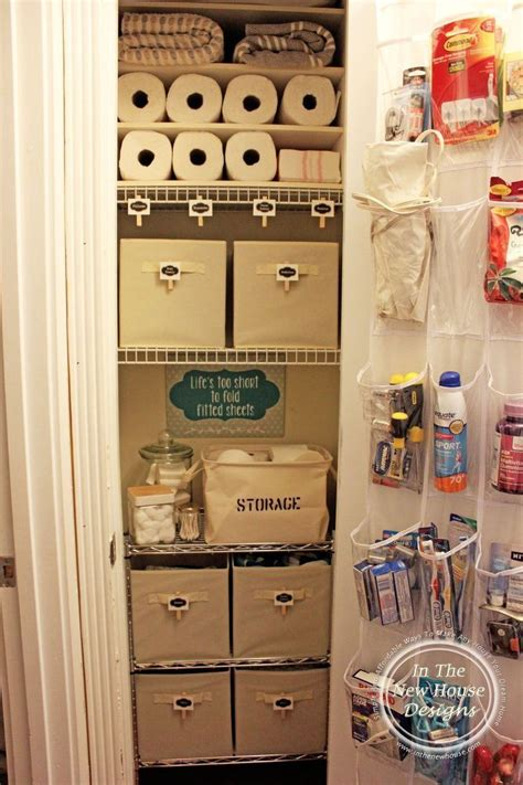 shallow linen closet organization storage ideas pinterest small linen closet organization small linen closets