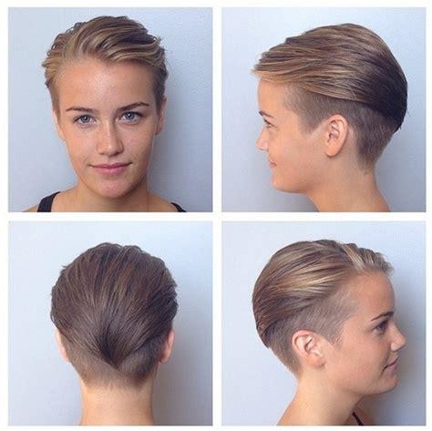 undercut short haircut  women wet styles hairstyles