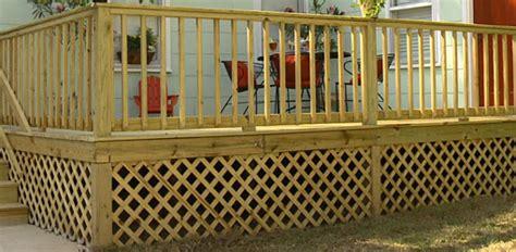 Patio Deck Flooring Options Adding Wood Lattice Under Skirting Around A Deck