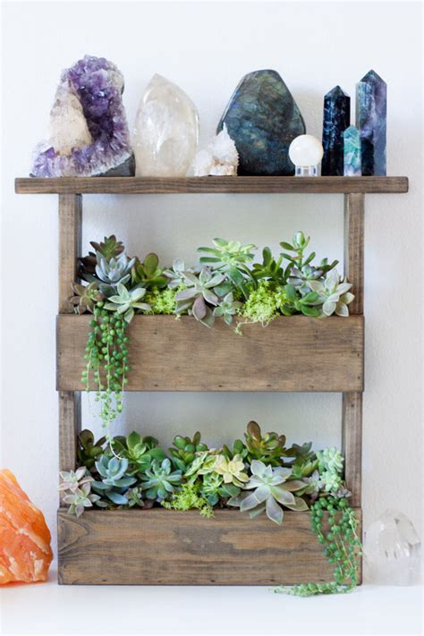 vertical wall planter box pallet style display shelf