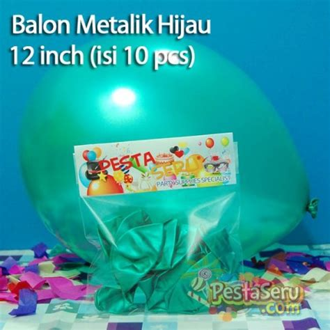 Balon Print Bunga Isi 10 balon metalik hijau 12 inch isi 10 pcs pestaseru