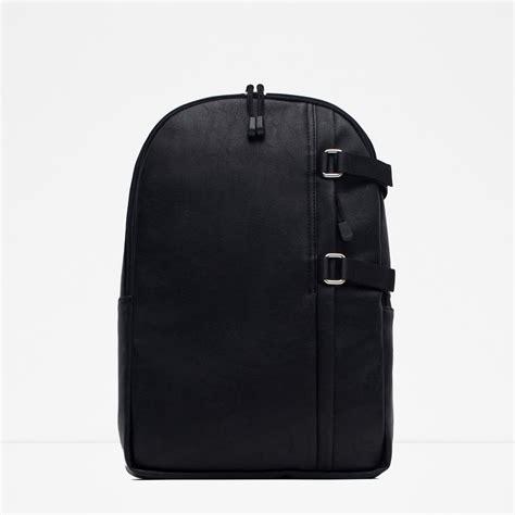 Zara Backpack Classic zara buckled backpack in black for lyst