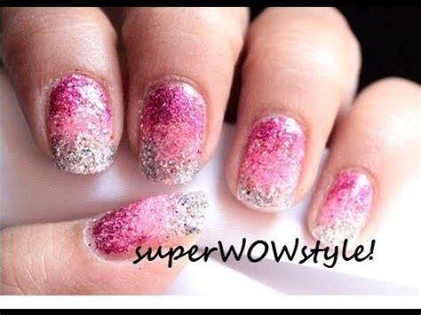 easy nail art using sponge ombre nails without sponge no sponge gradient glitter