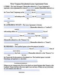 free west virginia residential lease agreement pdf template