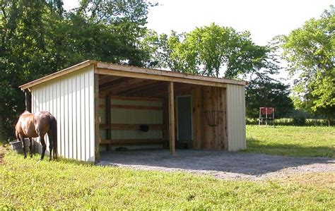 How To Build A Run In Shed For Horses by How To Build Lean To Pole Barn Studio Design Gallery