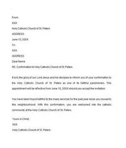 confirmation letter 7 free download for doc