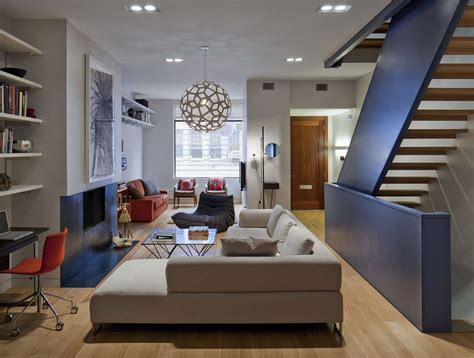 Ideas Townhouse Interior Design Stylish Townhouse Interior In New York