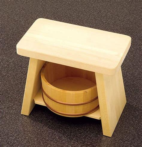 Japanese Bathing Stool by Real Japanese Hiba Wood