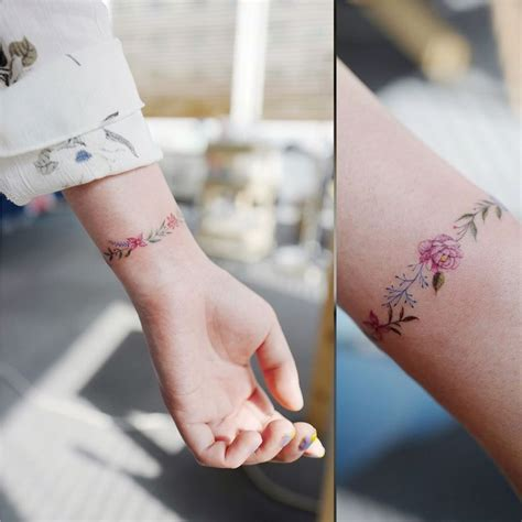 flower wrist bracelet tattoos 25 best ideas about flower wrist tattoos on
