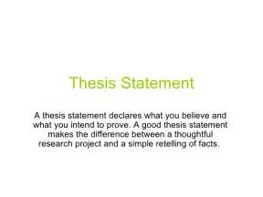 What Does Thesis Statement Thesis Statement