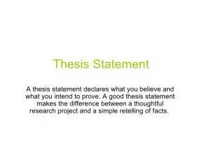 Mla thesis statement example