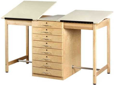 Drafting Table With Drawers Drafting Table 8 Drawers Dvr 82a Drafting Tables