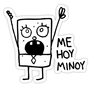 doodlebob me hoy minoy meaning quot spongebob doodlebob quot stickers by lasercatz redbubble