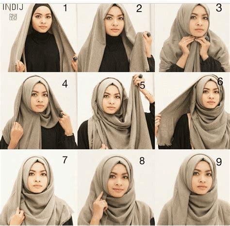 tutorial jilbab segi 4 rawis tutorial hijab katun rawis segi empat kumpulan contoh