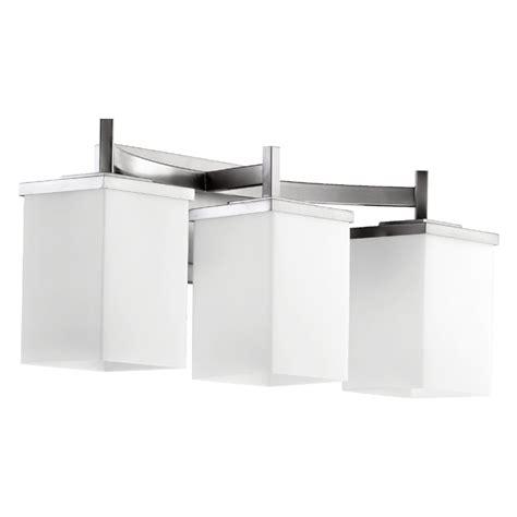 Quorum Bathroom Lighting Modern Bathroom Light Satin Nickel Delta By Quorum Lighting 5084 3 65 Destination Lighting
