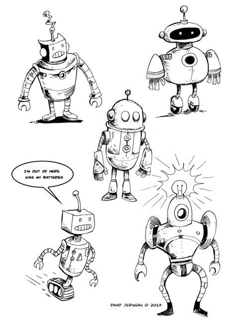 retro drawing retro robot drawing sketcharound