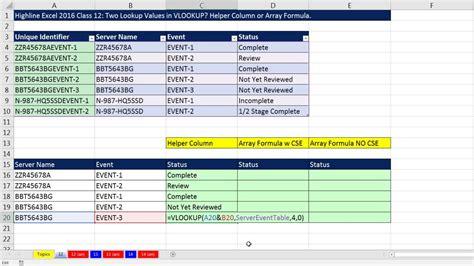 online tutorial vlookup excel vlookup two columns lookup value vlookup multiple