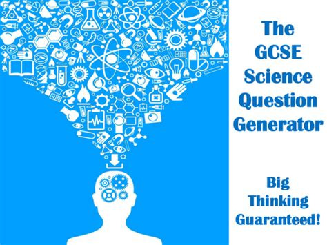 Or Question Generator The Gcse Science Question Generator By Mikegershon Teaching Resources Tes