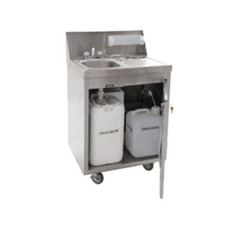 portable sinks with and cold water portable hand sink self contained 24 quot w x 26 quot l x 44 3 4