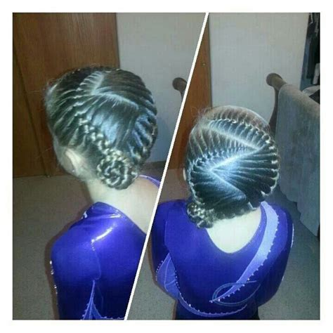gymnastics picture hair style gymnastics hair braids cute girls hairstyles pinterest