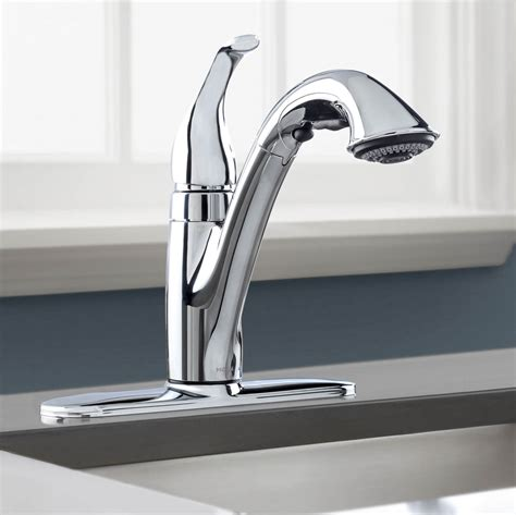 peerless pull kitchen faucet pull out or pull