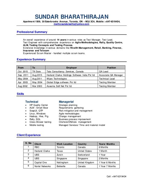 test manager sle resume 28 images sales management resume templates 266 best resume exles