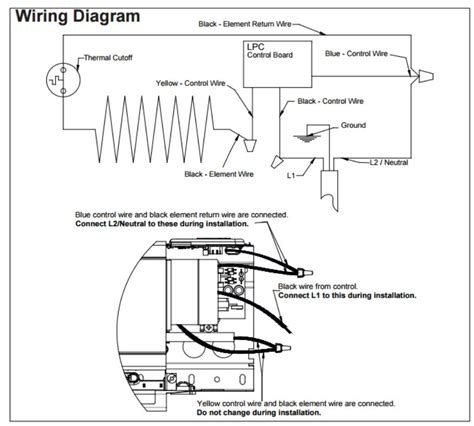 wiring diagram for electric thermostat electric